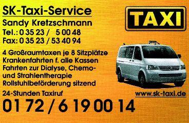 SK-Taxi-Service, Sandy Kretzschmann  - Taxi Coswig Telefon - 01640 Coswig, Sachsen - Deutschland  - Taxi Coswi Telefon 0172-619 0014
